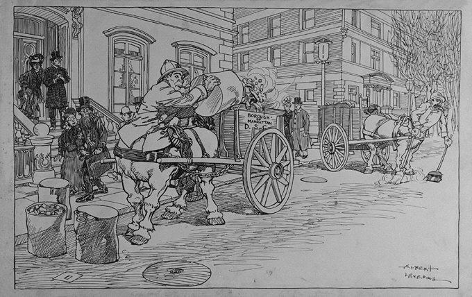 If the Centaurs Were Back on Earth - The Street Cleaning Department, illustration for Puck, November 29, 1905