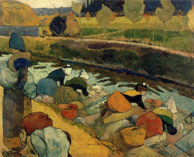 Washerwomen at the Roubine du Roi Arles 1888 Paul Gauguin